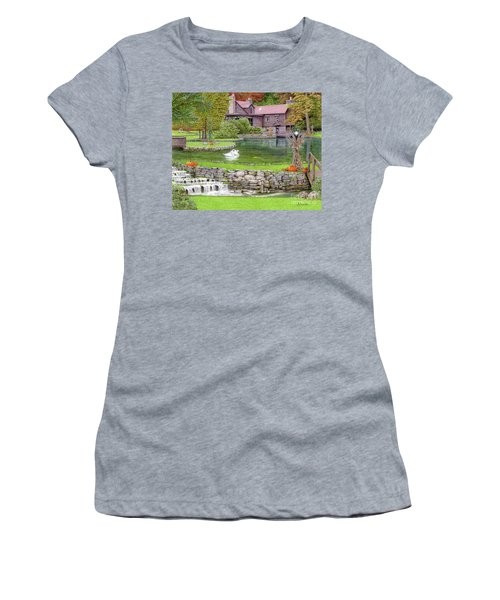 Fin N Feather At Seven Springs Women's T-Shirt (Athletic Fit)