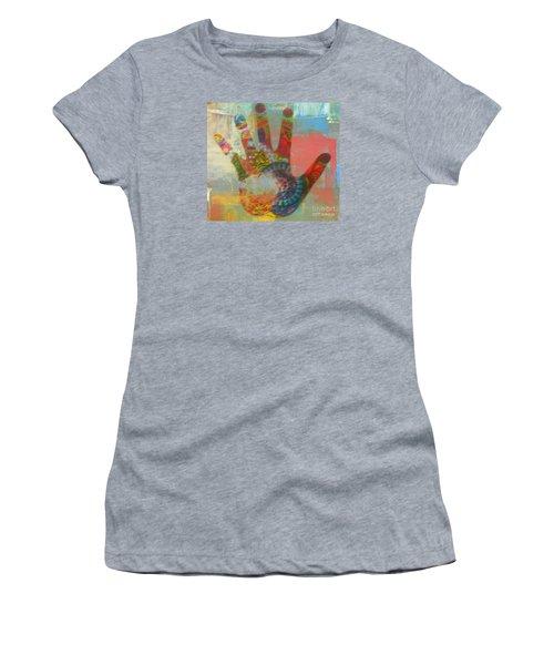 Finger Paint Women's T-Shirt (Athletic Fit)