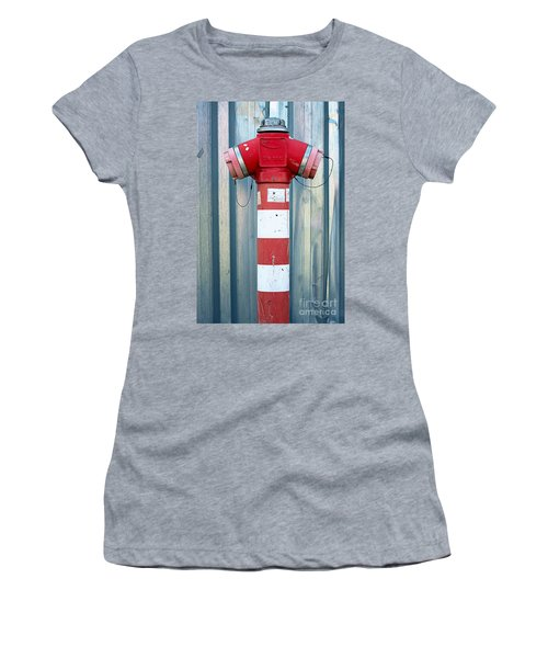 Fire Hydrant Steel Wall Women's T-Shirt (Athletic Fit)