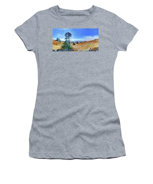 First Light Snow Women's T-Shirt (Junior Cut) by George Randy Bass