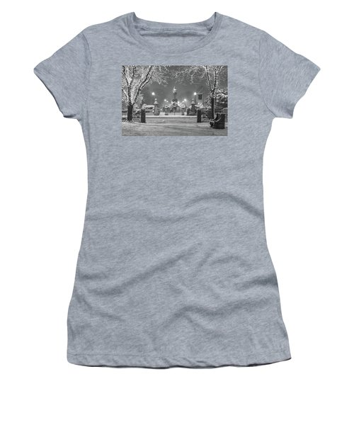 First Snow At Boston's Public Garden Women's T-Shirt