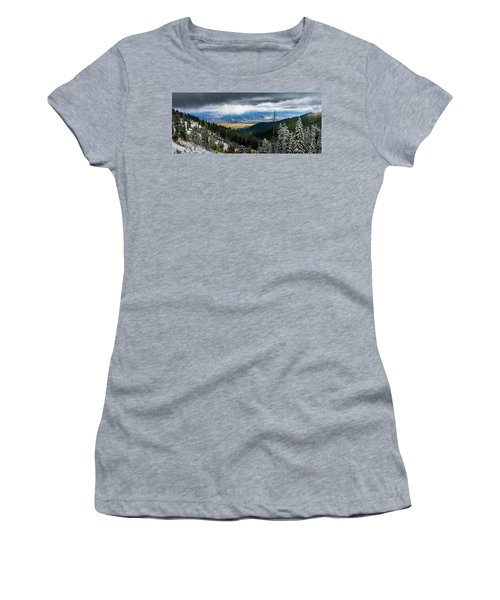 First Snow, Jackson From Teton Pass Women's T-Shirt