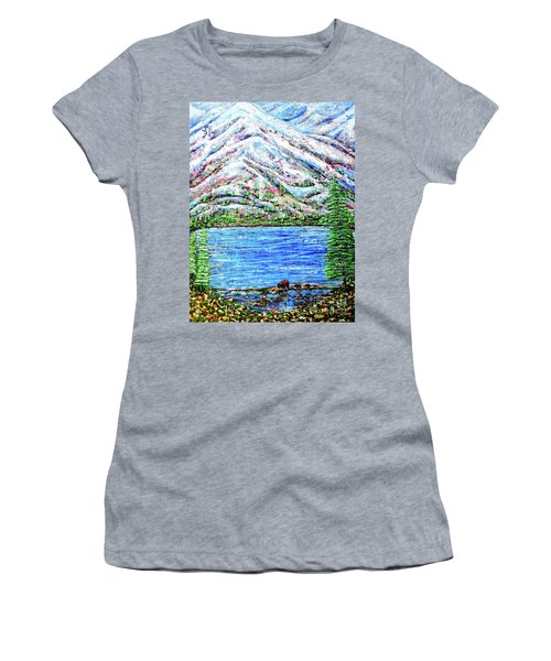First Snow Women's T-Shirt (Junior Cut) by Viktor Lazarev