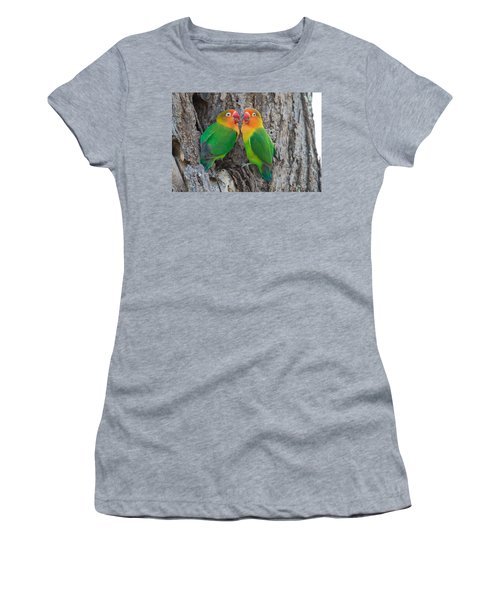 Fischers Lovebird Agapornis Fischeri Women's T-Shirt (Athletic Fit)