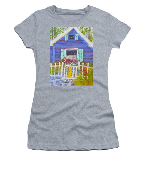 Fish Camp Cottage Women's T-Shirt (Athletic Fit)
