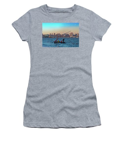 Fishermen And The Maputo Skyline Women's T-Shirt