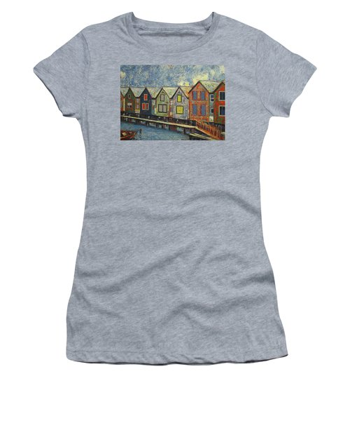Fishermen Huts Women's T-Shirt (Athletic Fit)