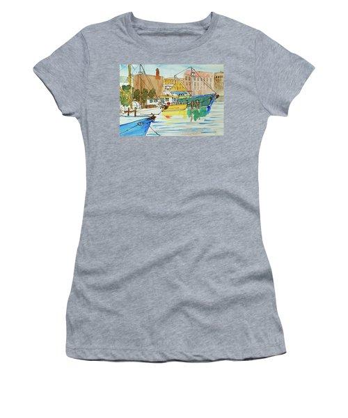 Fishing Boats In Hobart's Victoria Dock Women's T-Shirt