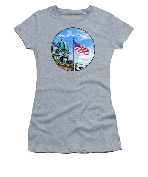 Flag Flying Over Tecumseh Court Women's T-Shirt