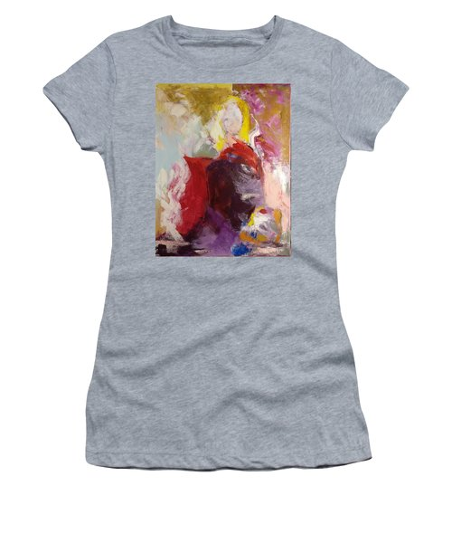 Women's T-Shirt featuring the painting Flash by Nicolas Bouteneff