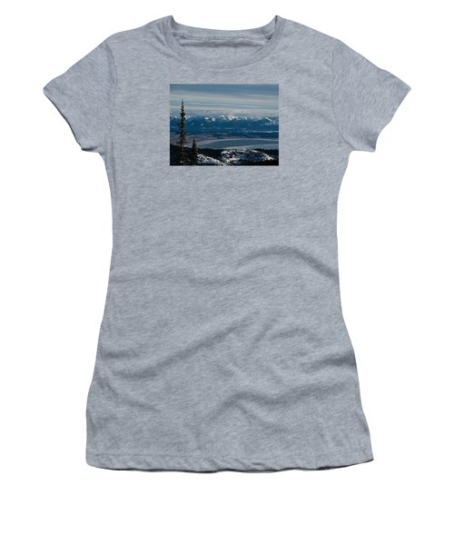 Flathead Valley In The Winter Women's T-Shirt