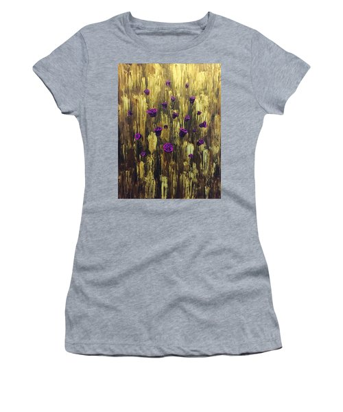 Floating Royal Roses 1 Women's T-Shirt (Athletic Fit)
