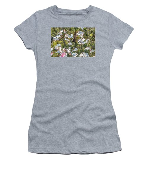 Flock Of Mixed Birds Taking Off Women's T-Shirt