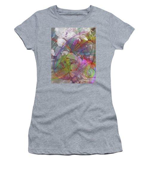Floral Fantasy Women's T-Shirt (Junior Cut) by John Robert Beck