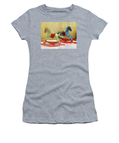 Floral Rocking Horses Women's T-Shirt