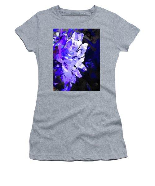 Flower Lavender Lilac Blue Women's T-Shirt (Athletic Fit)