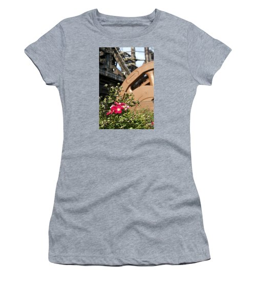 Flowers And Steel Women's T-Shirt (Athletic Fit)