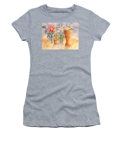 Flowers And Terra Cotta Women's T-Shirt