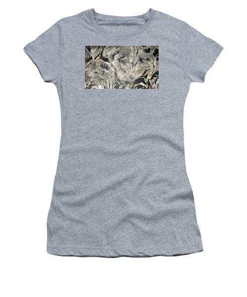 Flowers In Bronze Steele And Copper Women's T-Shirt