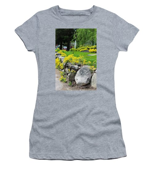 Flowers On The Wall Women's T-Shirt (Athletic Fit)