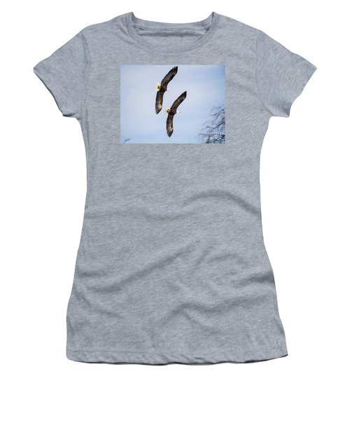 Flying In Formation Women's T-Shirt (Athletic Fit)