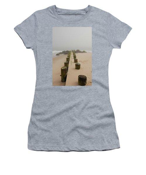 Fog Sits On Bay Head Beach - Jersey Shore Women's T-Shirt