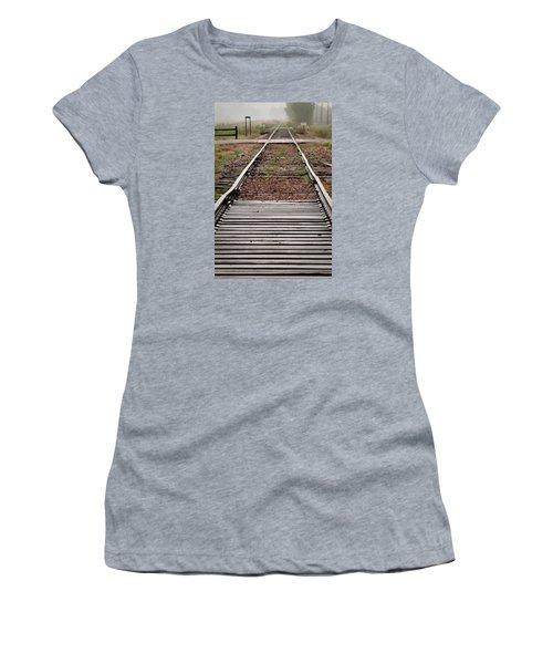 Women's T-Shirt (Junior Cut) featuring the photograph Following The Tracks by Monte Stevens