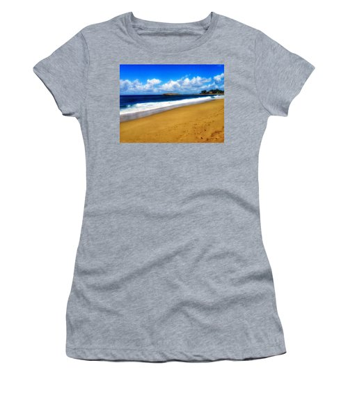 Foot Prints  Women's T-Shirt (Athletic Fit)