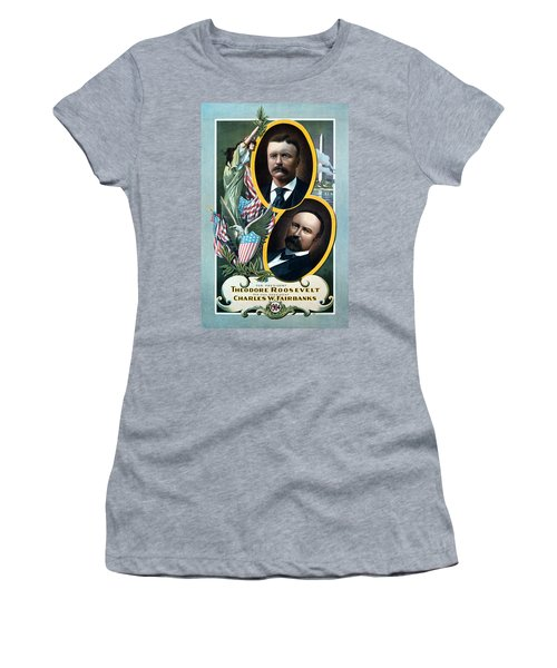 For President - Theodore Roosevelt And For Vice President - Charles W Fairbanks Women's T-Shirt (Athletic Fit)