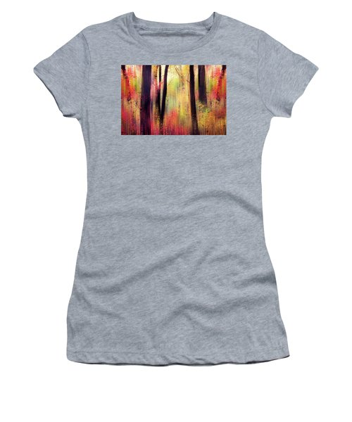 Women's T-Shirt featuring the photograph Forest Frolic by Jessica Jenney