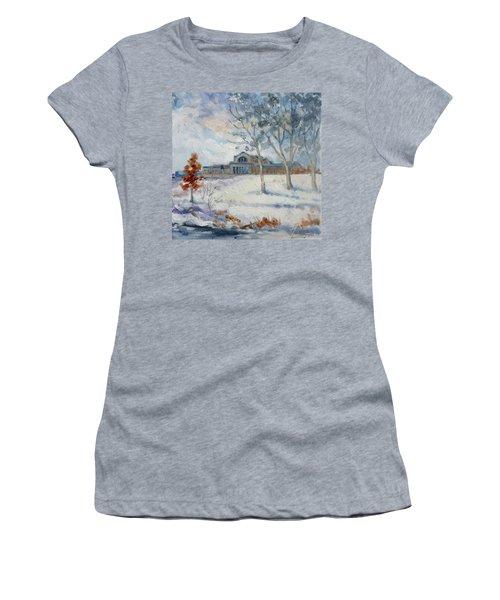 Forest Park Winter Women's T-Shirt (Junior Cut) by Irek Szelag
