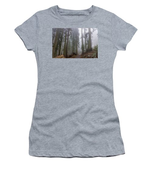 Women's T-Shirt (Athletic Fit) featuring the photograph Forest Walking Path by Peggy Hughes