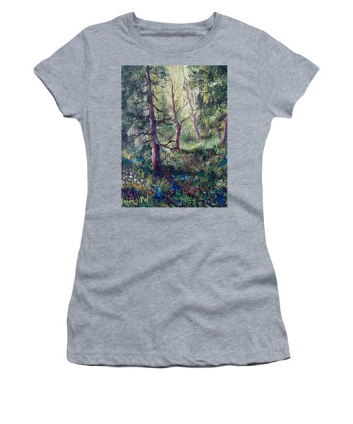 Forest Wildflowers Women's T-Shirt (Junior Cut) by Megan Walsh
