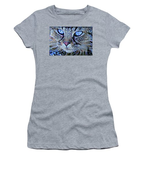 Forget Me Nots Cat - Unforgettable Women's T-Shirt (Athletic Fit)