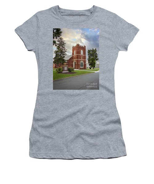 Fork Union Military Academy Wicker Chapel Sized For Blanket Women's T-Shirt (Athletic Fit)