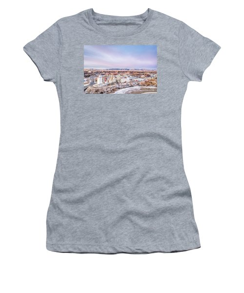 Fort Collins Aeiral Cityscape Women's T-Shirt