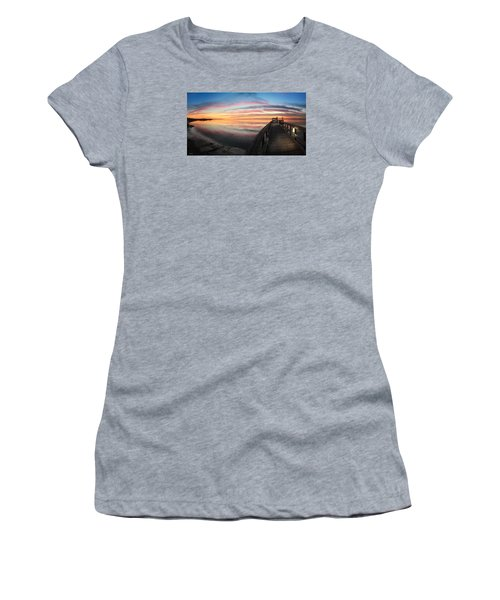 Fort Fisher Sunset Reverie With Heron Women's T-Shirt