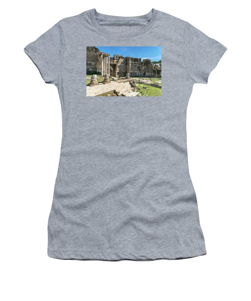 Women's T-Shirt (Junior Cut) featuring the photograph Forum Of Augustus by Scott Carruthers