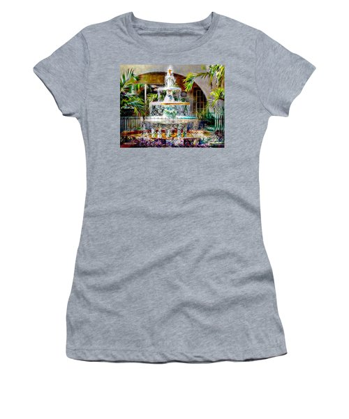Fountain Of Water Women's T-Shirt (Athletic Fit)