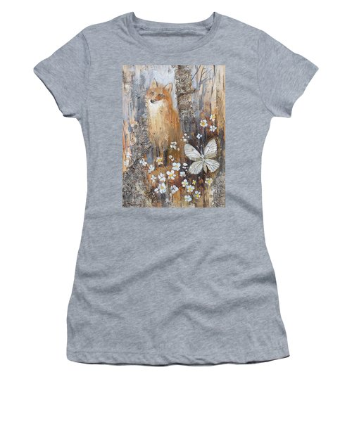 Fox And Butterfly Women's T-Shirt