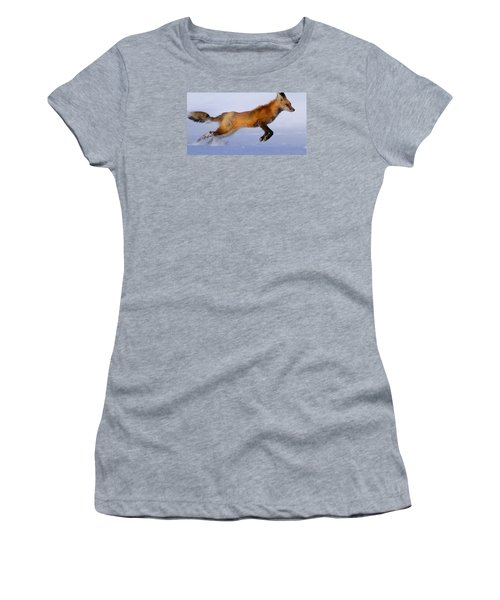 Fox On The Run Women's T-Shirt (Athletic Fit)