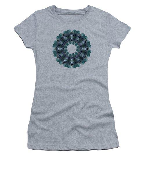 Fractal Wreath-32 Teal T-shirt Women's T-Shirt
