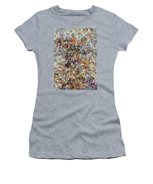 Women's T-Shirt (Junior Cut) featuring the painting Fragmented Horse by James W Johnson
