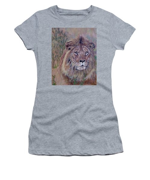 Women's T-Shirt featuring the painting Frank by Tom Roderick