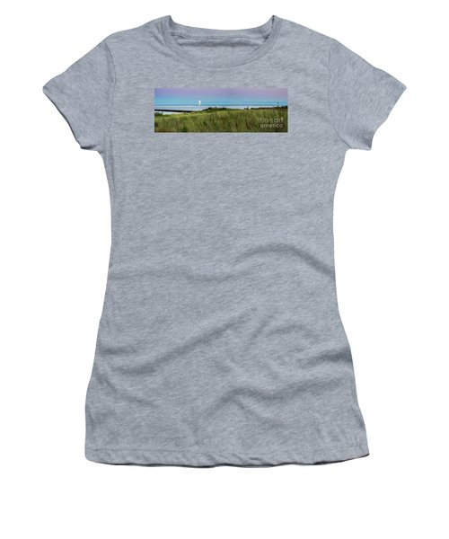 Frankfort North Breakwater Panorama From Elberta  Women's T-Shirt