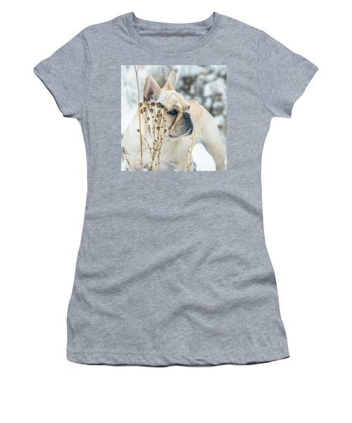 French Bulldog In The Snow Women's T-Shirt