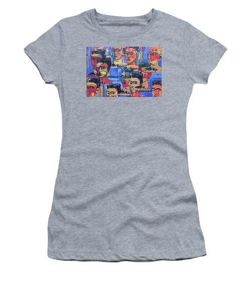 Frida Blue And Orange Women's T-Shirt