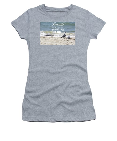 Friends In Life Women's T-Shirt (Athletic Fit)