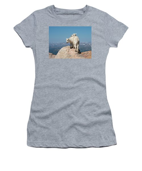 Frisky Mountain Goat Babies Women's T-Shirt