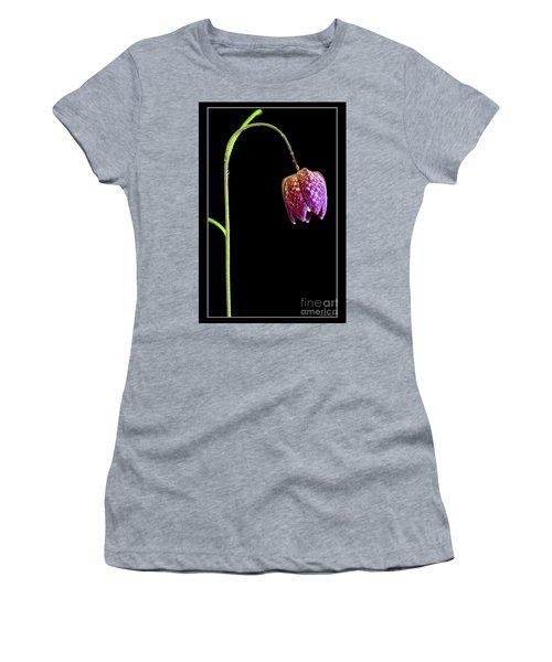 Fritillaria Meleagris, Snakes Head Fritillary Women's T-Shirt